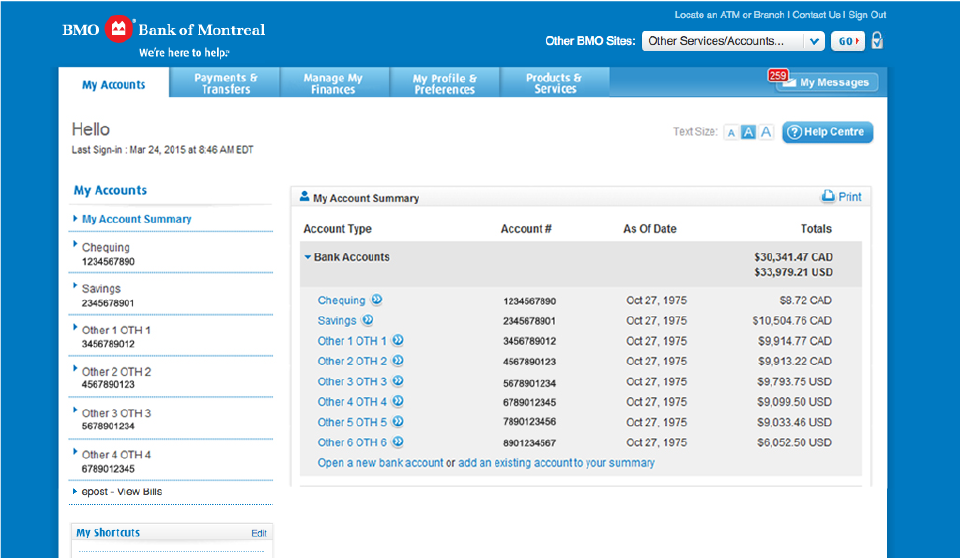 "e5a5e0ceaf0 Select the ""Payments & Transfers"" tab at the top of the My Accounts page"