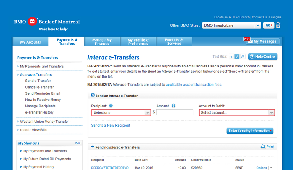Send and Request Money via Interac e-Transfer | Ways to Bank