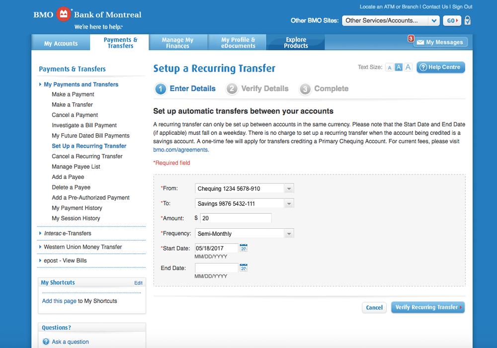 Transfer Money Online | Ways to Bank | BMO on